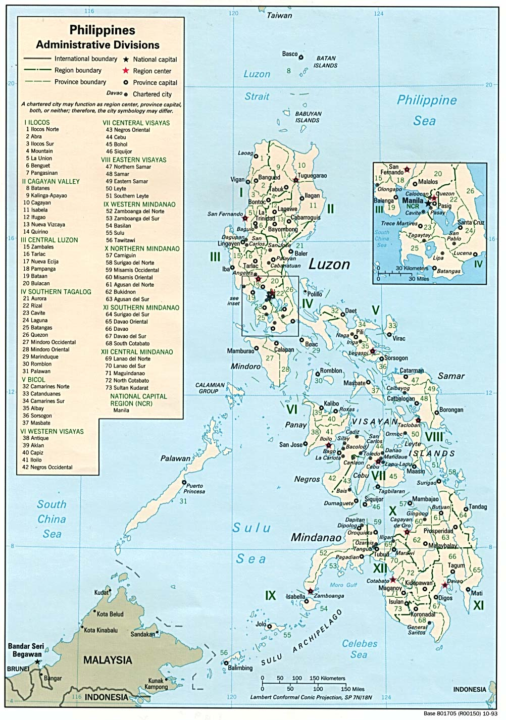 Philippines Administrative Divisions - Map of the philippines cities